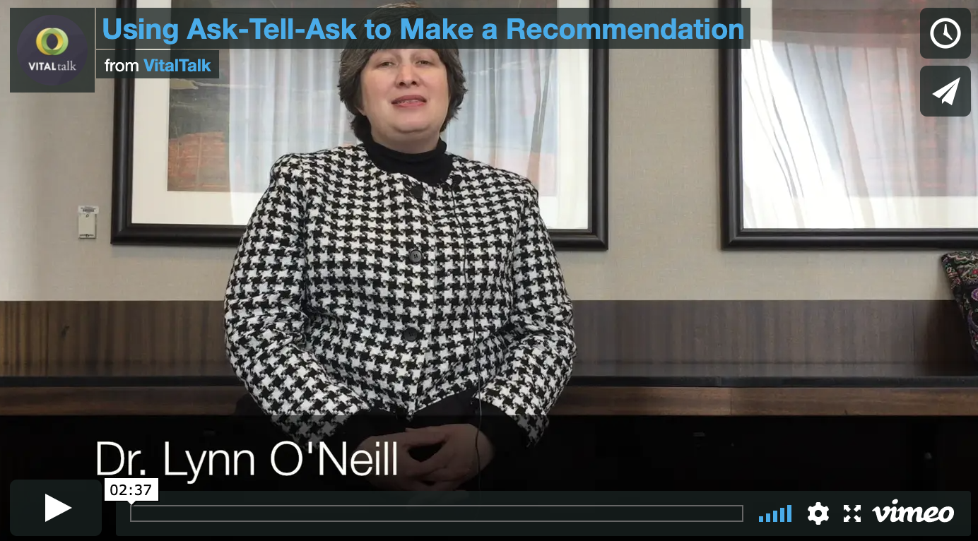 Using Ask-Tell-Ask to Make a Recommendation