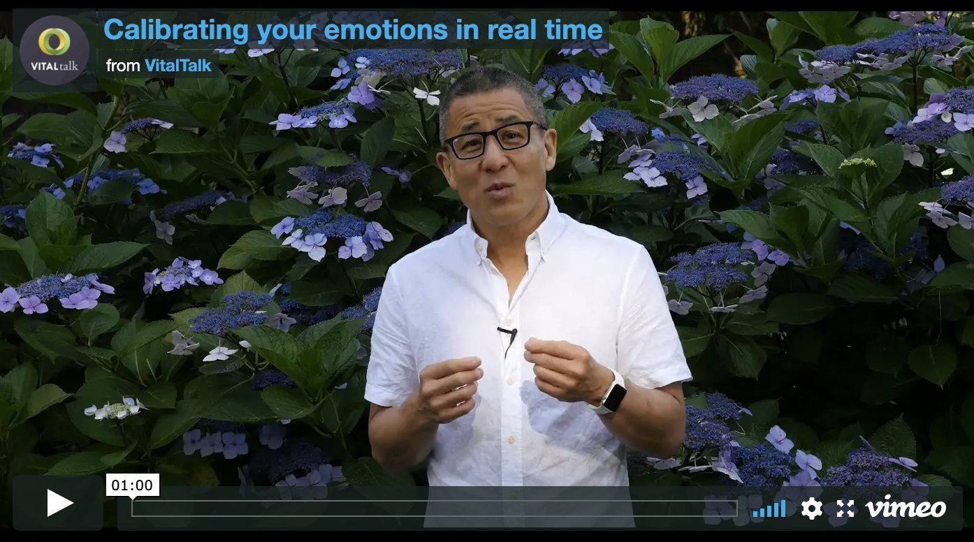 Calibrating your emotions in real time