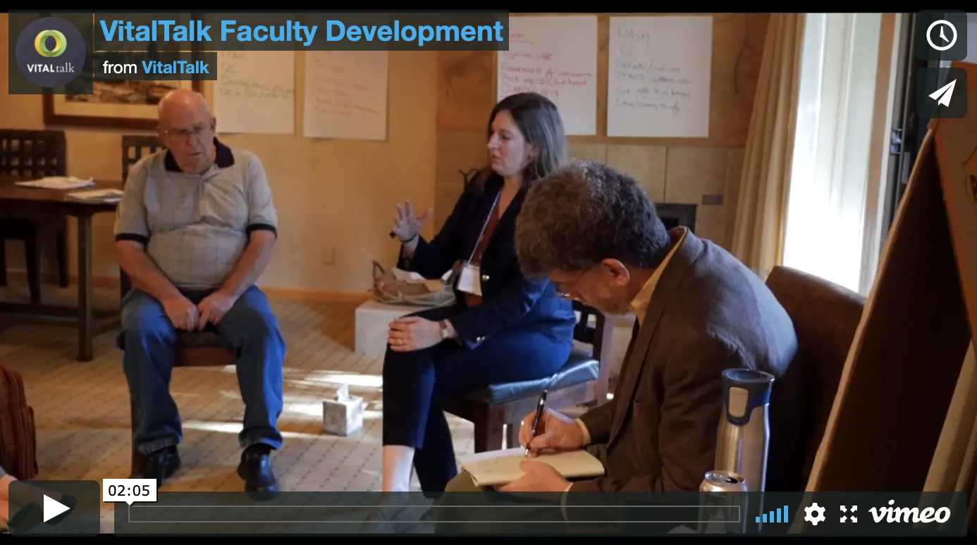 VitalTalk Faculty Development: sign up now!